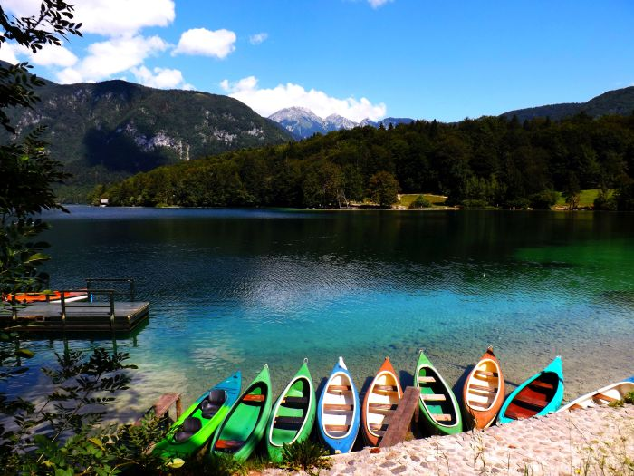 Demasiado bonito para vivir aquí. Lago de Bohinj