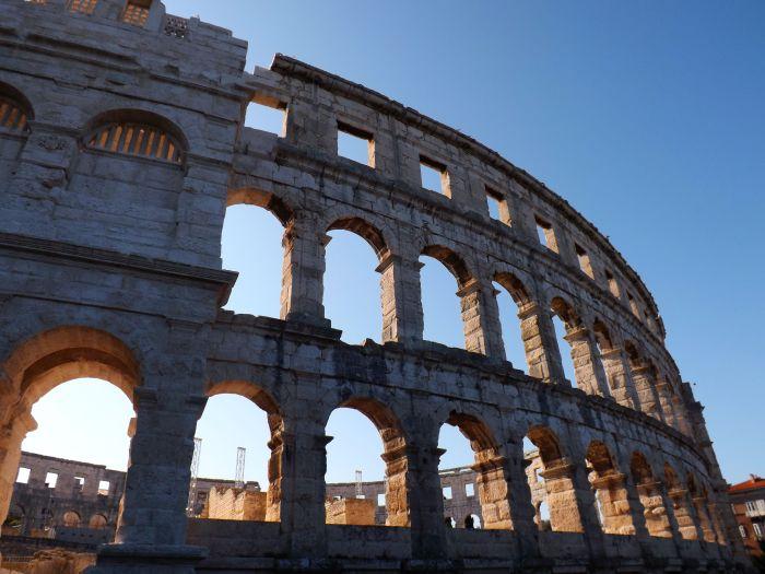 Anfiteatro romano de Pula, península de Istria