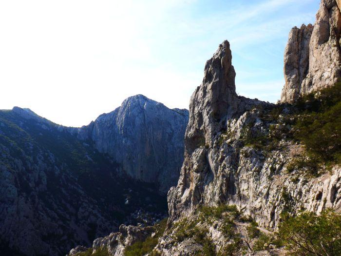 Cortados calcáreos en el parque nacional de Paklenika