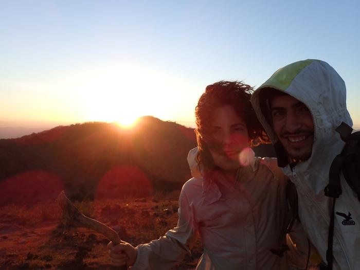 Amanecer después del vivac desde el volcán Telica