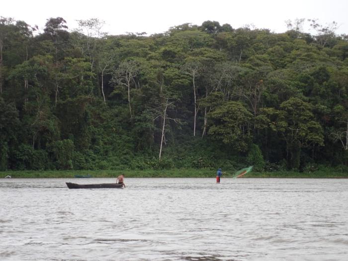 Pescadores en el Río San Juan