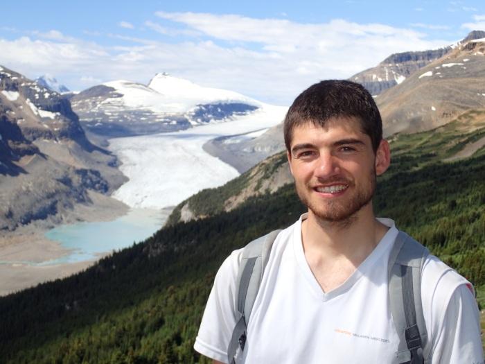 Uno de tantos cientos de glaciares en la ruta a Jasper desde Lake Louise