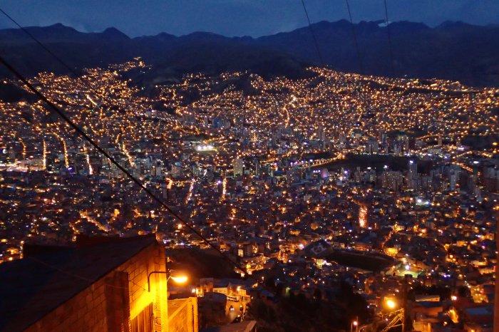 Vistas de La Paz desde El Alto, Bolivia