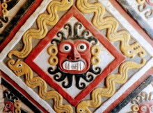Dios moche Ai Apaec en Huaca Cao Viejo, complejo El Brujo