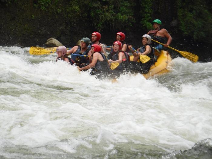 Rafting en el río Pastaza, Baños