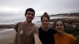 Con Karen en Punta del Diablo