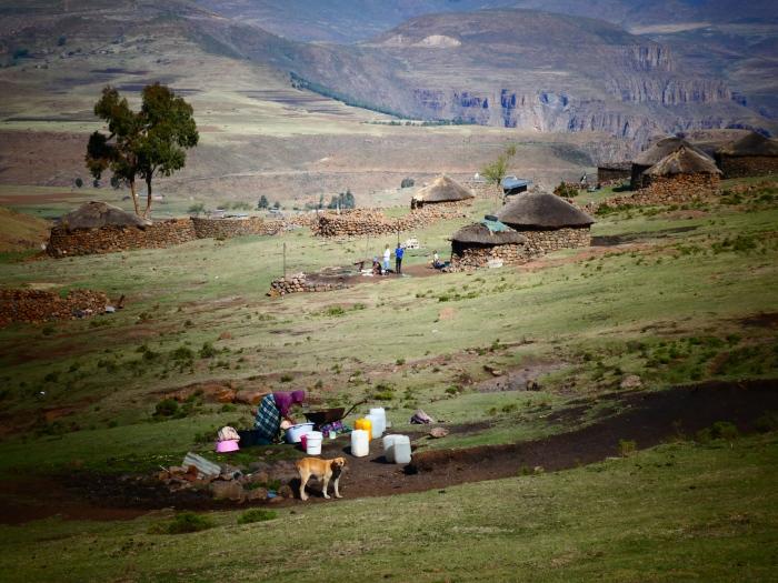Poblados de pastores clásicos en Lesotho