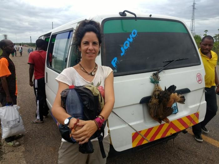 La chapa que nos llevó de Muxungue a Beira