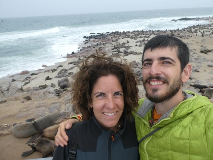 Colonia de leones marinos en Cape Cross