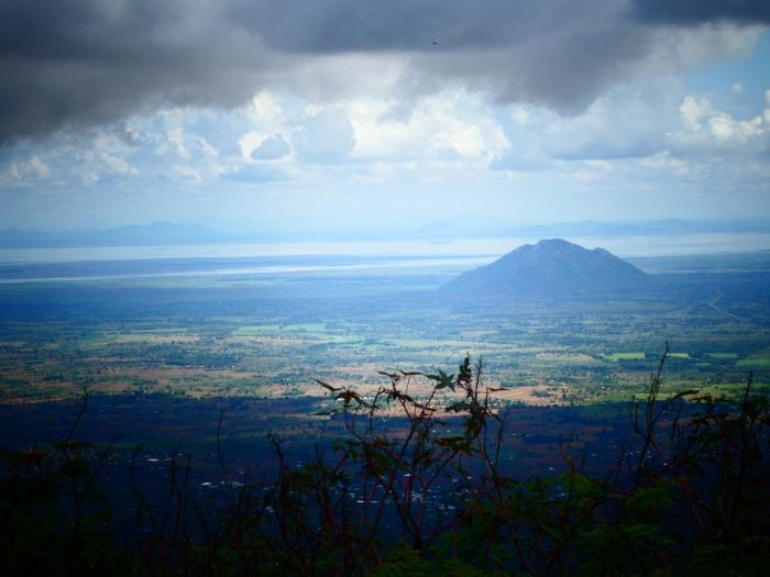 Vistas desde el Zomba Plateau del rift deMalawi y sus lagos