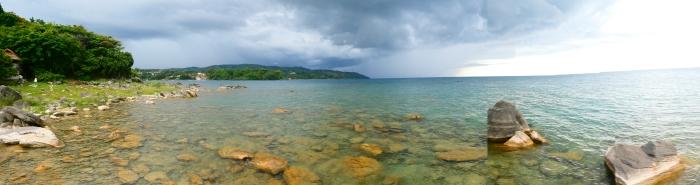 Panorámica del lago Malawi desde nuestra cabaña en Nkhata Bay
