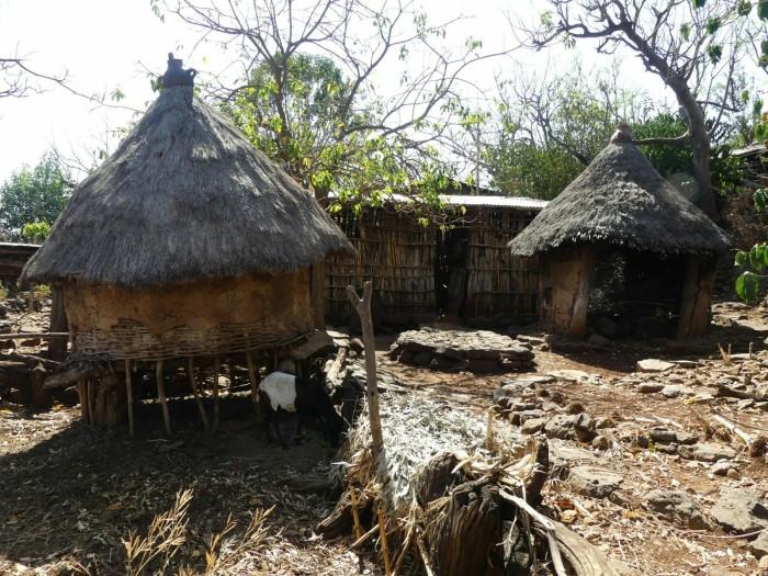 Casas tradicionales en las aldeas de Konso