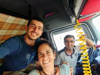 Con el camionero turco camino de Samarcanda