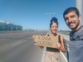 Ya queda menos para llegar a casa, en Zaragoza (España)